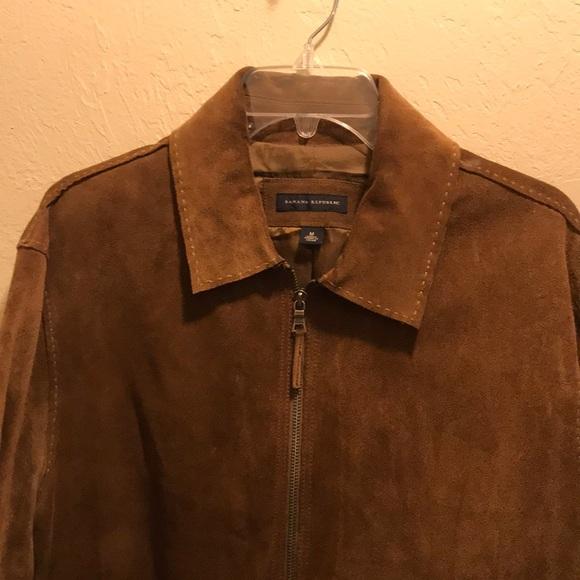 134ee8854 Shoptagr | Men's Banana Republic. Brown Suede Jacket. Size M by ...